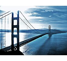 Blue Day @ Golden Gate Bridge Photographic Print