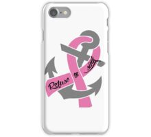 Breast Cancer - Anchor iPhone Case/Skin