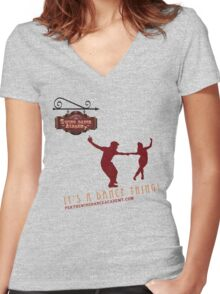 Perth Swing Dance Academy  Women's Fitted V-Neck T-Shirt