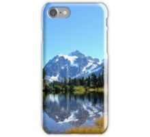 Mount Shuksan with Picture Lake iPhone Case/Skin