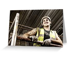 Construction Worker 2 Greeting Card