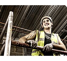 Construction Worker 2 Photographic Print