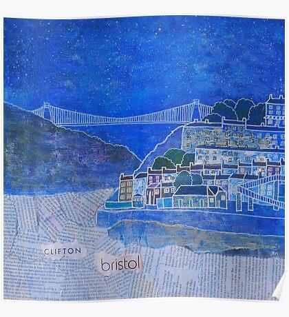Clifton Suspension Bridge, Bristol, UK, Brunel Poster
