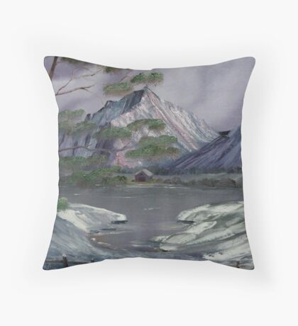 Property Line Big Rock Candy Mountain Ranch Throw Pillow