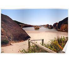 Stepping on to the beach at Elephant Cove Poster