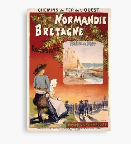 Gustave Fraipont Affiche Ouest Normandie Bretagne Canvas Print