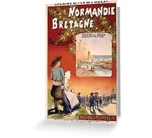 Gustave Fraipont Affiche Ouest Normandie Bretagne Greeting Card