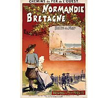 Gustave Fraipont Affiche Ouest Normandie Bretagne Photographic Print