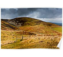 Monday Cleugh & Harehope Hill, Northumberland National Park, UK Poster