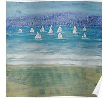 Winter sailing in Salcombe, Devon Poster