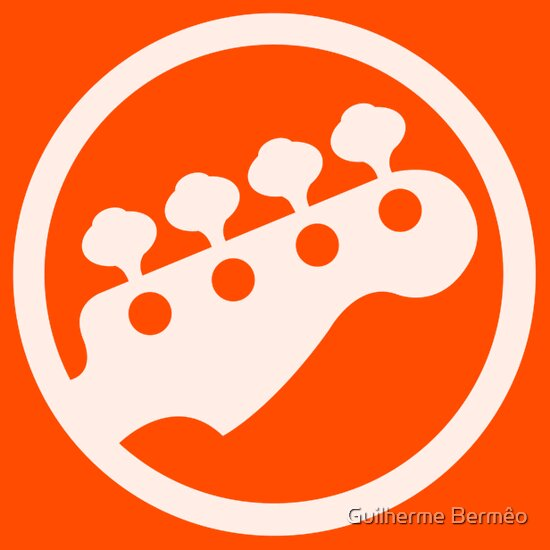 TShirtGifter presents: T-Shirt like Scott Pilgrim vs. The World Rock Band Instrument Symbol - Bass