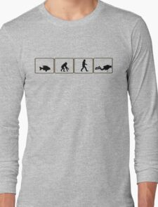 Dive and evolve...from fish to scuba diver Long Sleeve T-Shirt