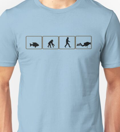 Dive and evolve...from fish to scuba diver Unisex T-Shirt