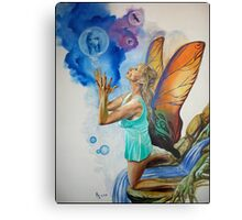 Magical Fairy performing a spell Metal Print