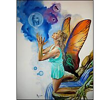 Magical Fairy performing a spell Photographic Print