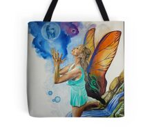 Magical Fairy performing a spell Tote Bag