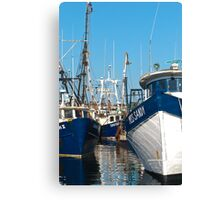 Three Trawlers Canvas Print