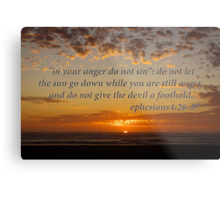 don't let the sun go down... Metal Print