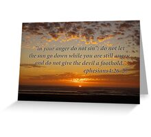 don't let the sun go down... Greeting Card