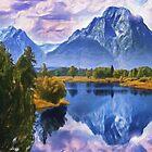 Rundle Mountain by Wayne Bonney