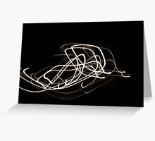 Night light trail of street lamp Greeting Card