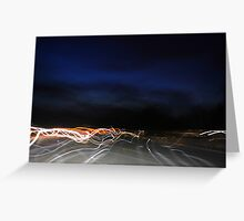 Night light car trails Greeting Card