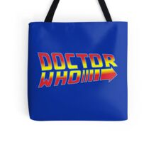 Back to Doctor Who Mash Up  Tote Bag