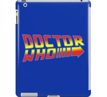 Back to Doctor Who Mash Up  iPad Case/Skin