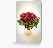 Bridal Wedding Bouquet of Red Roses Greeting Card