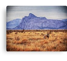 Purple Mountain Canvas Print
