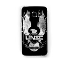 Halo UNSC Faded Watercolor Print White on Black Samsung Galaxy Case/Skin