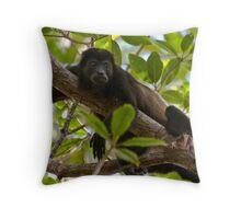 Mantled Howler Monkey Throw Pillow
