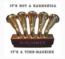 Harmonica Time-Machine sticker by Tony Peri