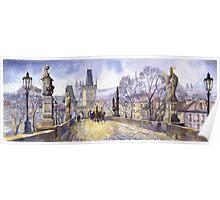 Prague Charles Bridge Mala Strana  Poster