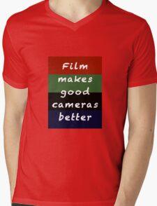 Film Makes Good Cameras Better Mens V-Neck T-Shirt