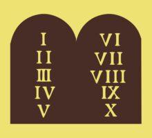 Ten Commandments Baby Tee