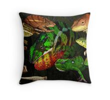 Chameleons of Northern Madagascar Throw Pillow