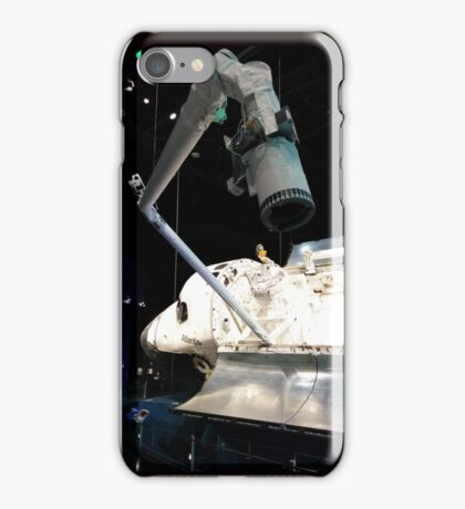 Space Shuttle Atlantis with Arm Extended iPhone Case/Skin