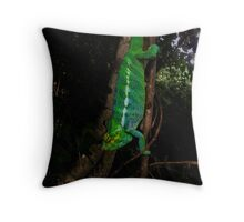 Panther Chameleon Throw Pillow