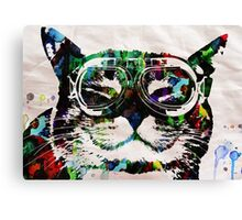Watercolor Cat Painter - by Robert R Canvas Print
