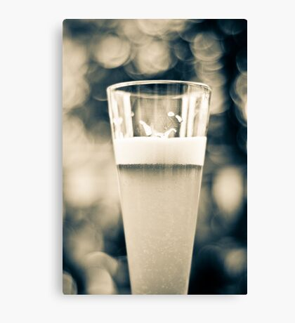 Beer Glass Bokeh Canvas Print