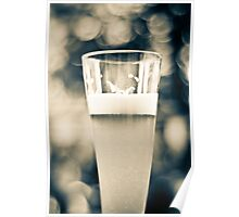 Beer Glass Bokeh Poster