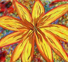 Painted Sunflower  by KathiSPerez