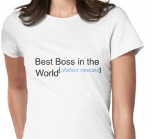 Best Boss in the World - Citation Needed! Womens Fitted T-Shirt