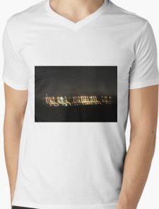 Drive-by lights at night Mens V-Neck T-Shirt