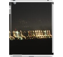 Drive-by lights at night iPad Case/Skin