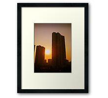 Changzhou tower blocks, China Framed Print