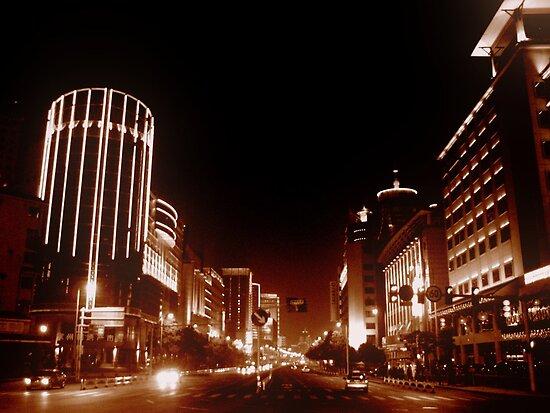 Downtown Changzhou, China by Chris Millar