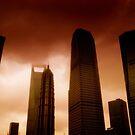 Shanghai skyscrapers, China by Chris Millar