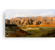 Snow Canyon at Sunrise Canvas Print